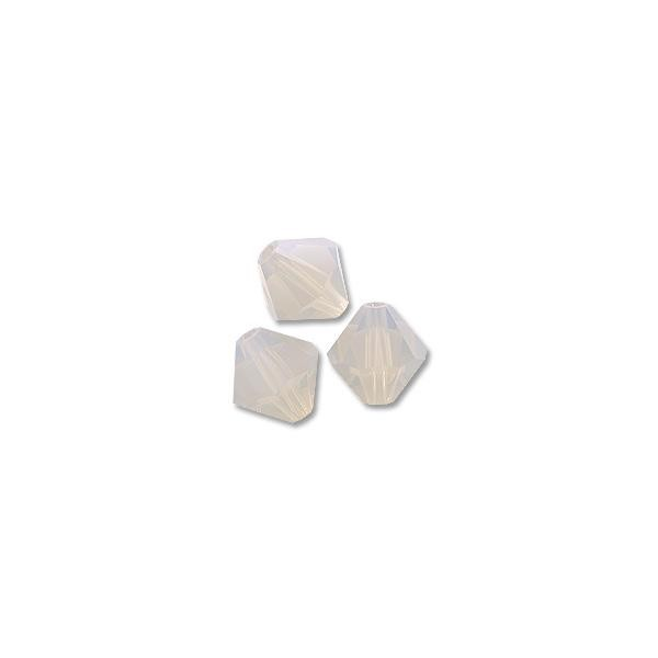 Swarovski 5301 3mm Light Grey Opal Bicone Bead (10-Pcs)