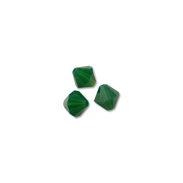 Swarovski Crystal Bicone Beads 5301 3mm Palace Green Opal (10-Pcs)