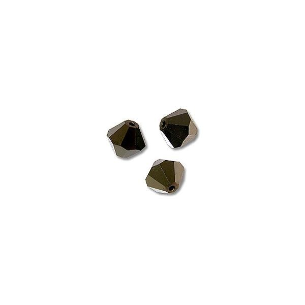 Swarovski Crystal Bicone Beads 5301 6mm Jet Nut 2x (10-Pcs)