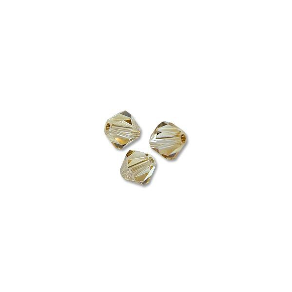 Swarovski Crystal Bicone Beads 5328 5mm Crystal Golden Shadow (10-Pcs)