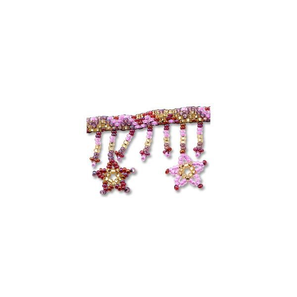 Star Adjustable Ankle Bracelet Pink/Red/Gold
