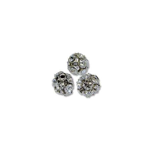 Swarovski Fireball Bead 8mm Crystal Sterling Plated (1-Pc)