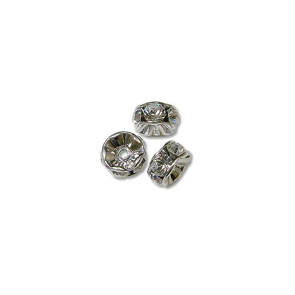Swarovski Rondelle Bead 4mm Crystal Rhodium Plated (1-Pc)