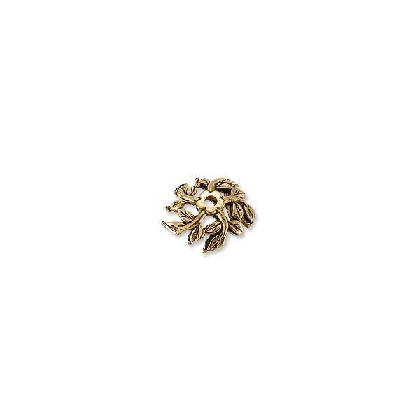 Bead Cap - Tree Top 12mm Pewter Antique Gold Plated (1-Pc)