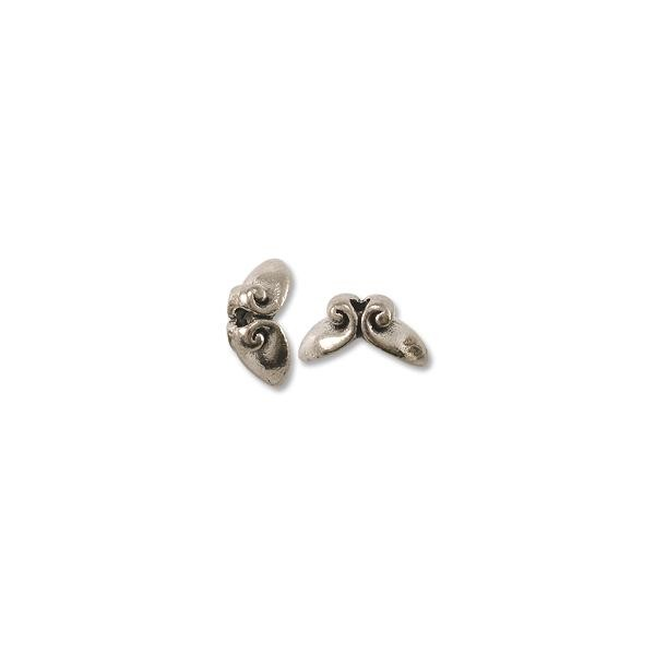 Volute Bead Cap 11x6mm Pewter Antique Silver Plated (1-Pc)