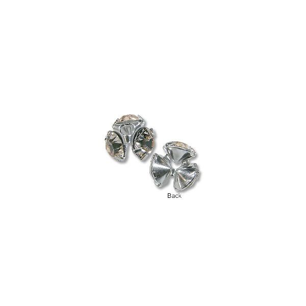 Swarovski Chaton Bead Cap Sterling Plated 7mm Silk (4-Pcs)