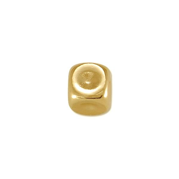Square Bead 6mm 14k Yellow Gold