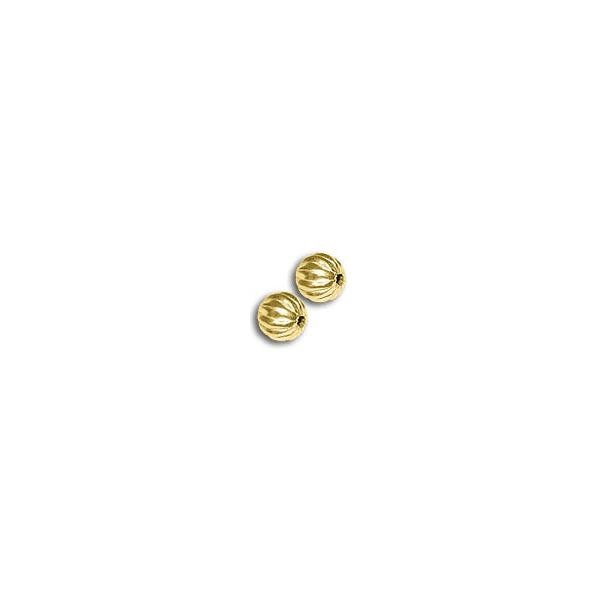 Corrugated Bead 8mm Gold Plated (10-Pcs)