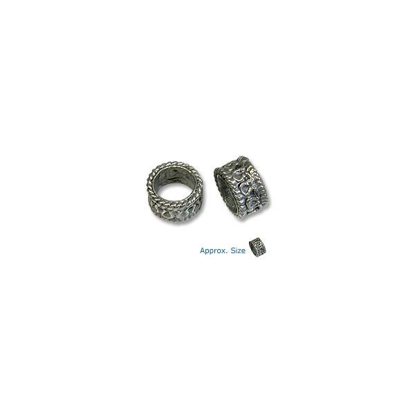 Bead Large Hole Spacer 12.5mm Pewter Silver Plated (1-Pc)