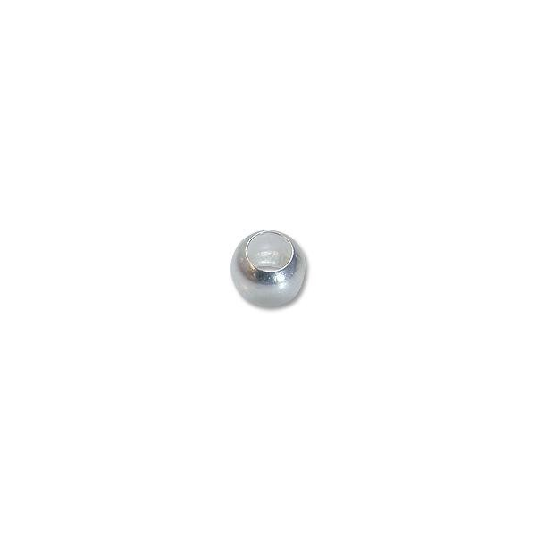 Crimp Bead 2mm Round Silver Plated (100-Pcs)