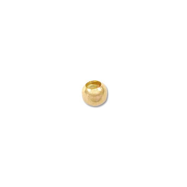 3.25mm Gold Plated Crimp Bead (1000-Pcs)