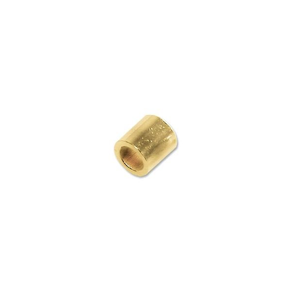 2x2mm Gold Filled Seamless Crimp Tube Bead (10-Pcs)