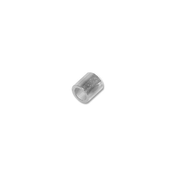 2x2mm Silver Plated Seamless Crimp Tube (10-Pcs)