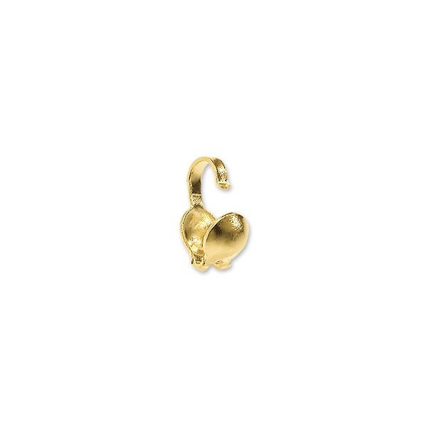 Clam Shell Bead Tip 3.5mm Cup 14k Yellow Gold (1-Pc)