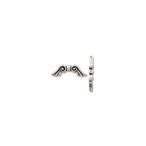 TierraCast Bead Angel Wing 22x7mm Pewter Antique Silver (1-Pc)