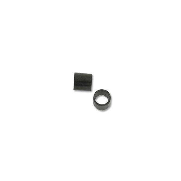 Crimp Tube Seamless 2x2mm Gun Metal (10-Pcs)