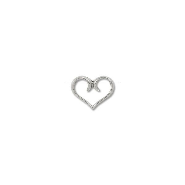 Bead Frame Sterling Silver | Heart 11x15mm