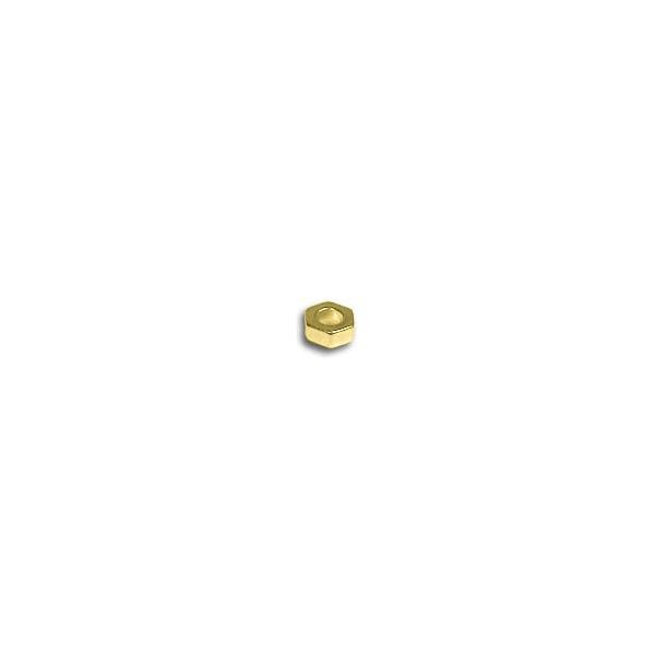 Hex Spacer 6x2.5mm Gold Plated (2-Pcs)