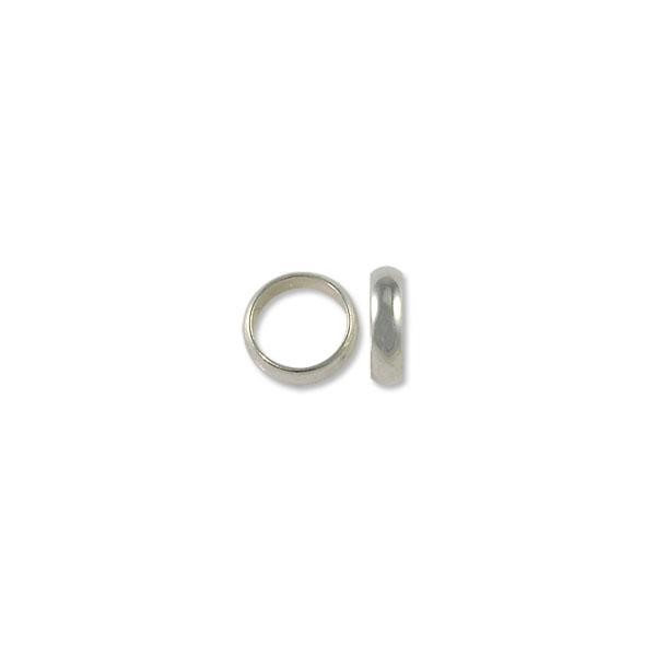 Spacer - Wide Ring 6x2mm Silver Plated (10-Pcs)