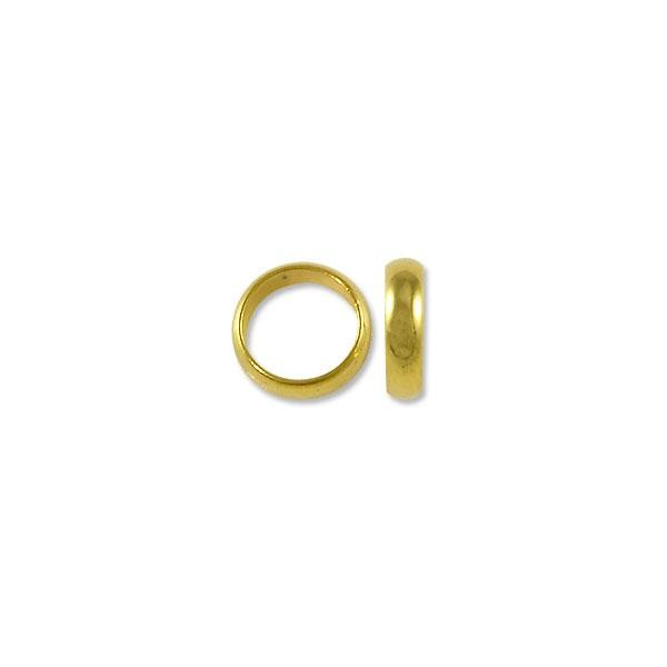 Spacer - Wide Ring 8x2mm Gold Plated (10-Pcs)