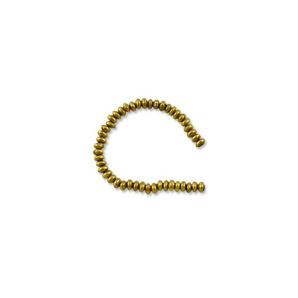 "Heishi Rondelle Beads 3.5x2mm Brass (24"" Strand)"