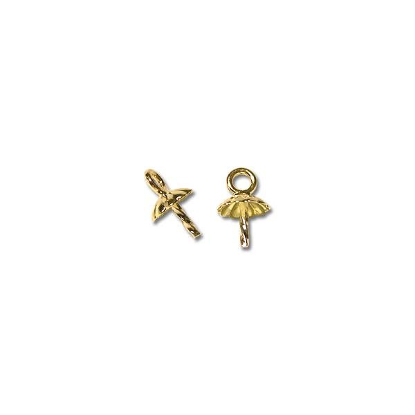 Pearl Drop with Ring 14k Yellow Gold (1-Pc)