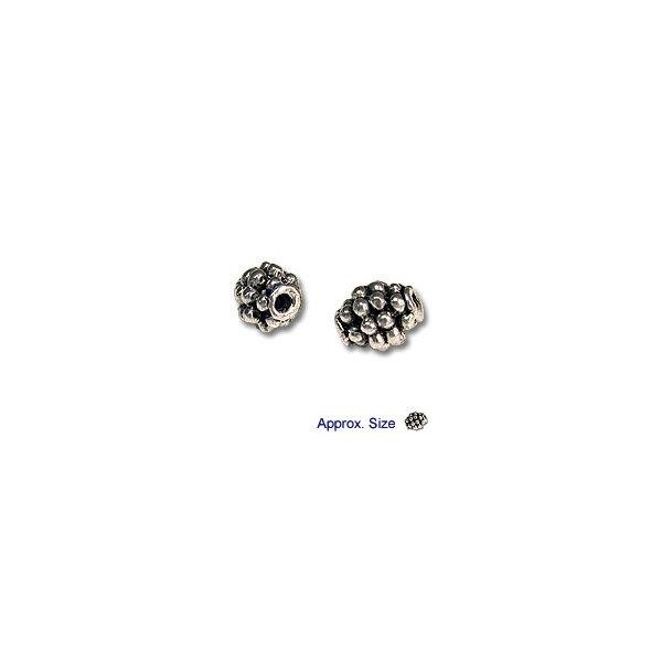 Beehive Beads 7x5mm Nickel Silver (4-Pcs)
