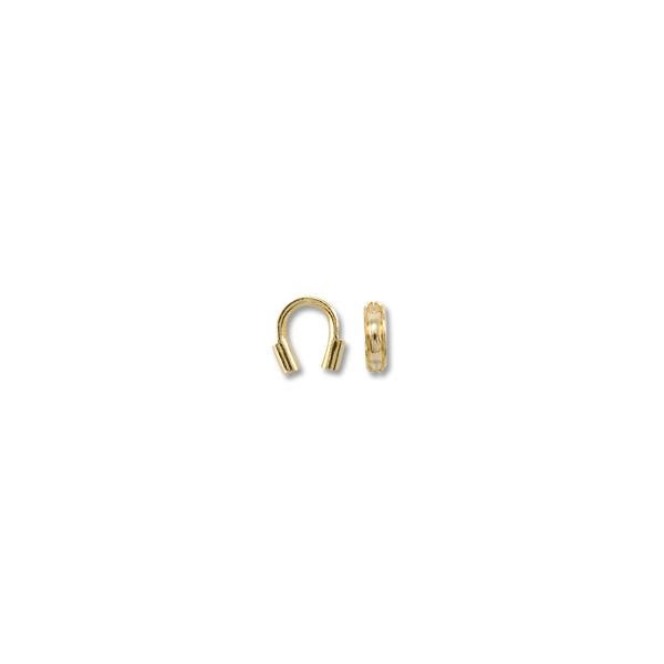 Wire Protector Guard Gold Color 4x4.5mm (10-Pcs)