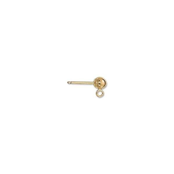 Ball Post Earring 4mm Gold Filled (1-Pc)