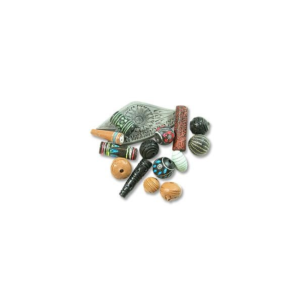 Assorted Terra Cotta Beads 1/2lb. (1/2 Pound)