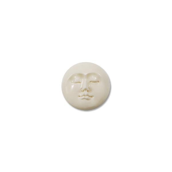 Moon Face with Closed Eyes 25mm Bone Cabochon (1-Pc)