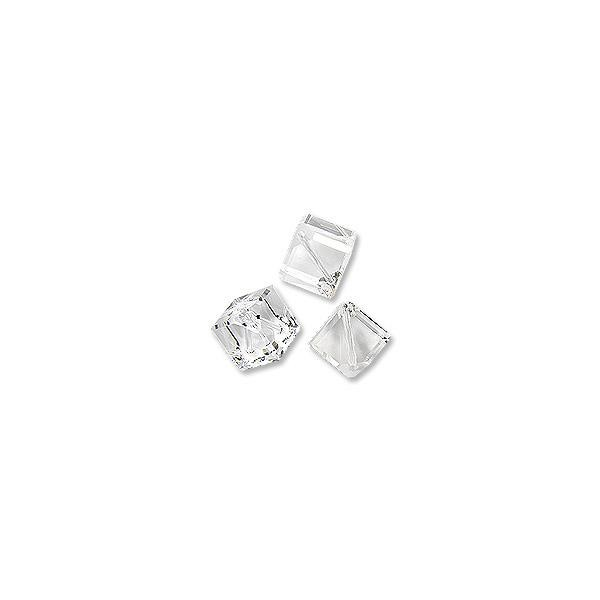 Swarovski Diagonal Cube Bead 5600 4mm Crystal (1-Pc)