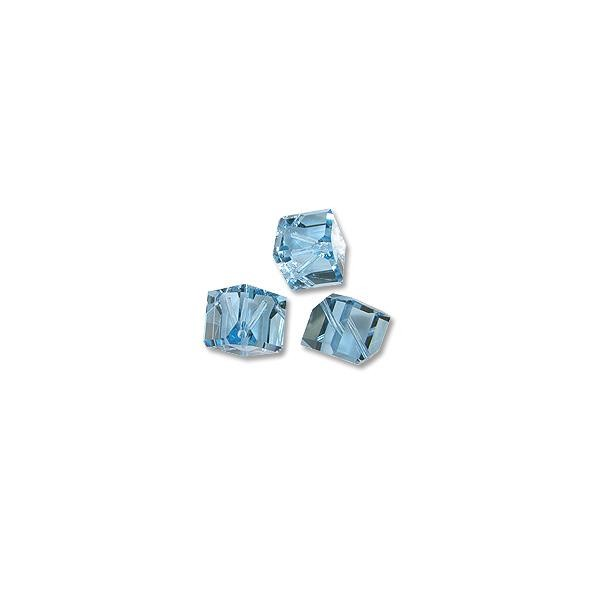 Swarovski Diagonal Cube Bead 5600 6mm Aquamarine (1-Pc)