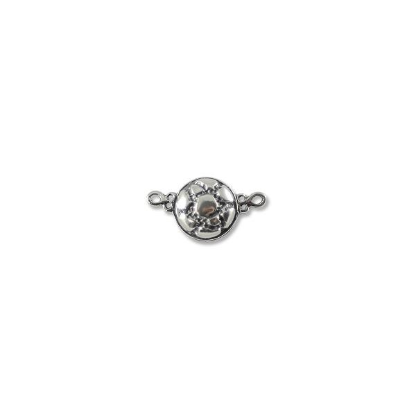 Semi Round Magnetic Clasp 10mm Sterling Silver (1-Pc)