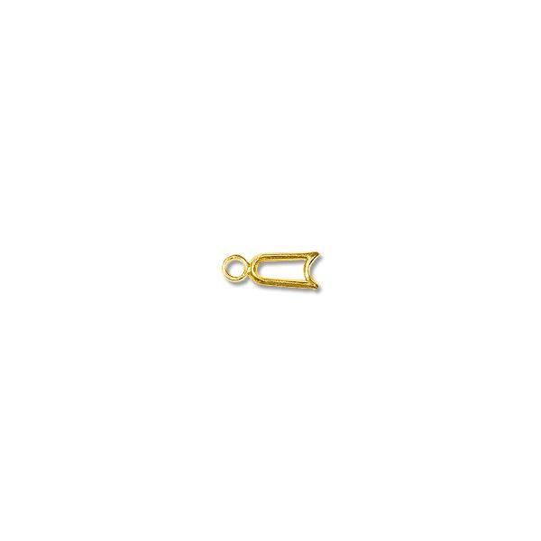 EZ Lock 14k Yellow Gold Connector 8x3mm (1-Pc)
