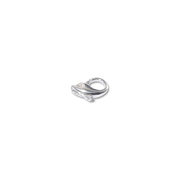 Dolphin Clasp 14x8mm Sterling Silver (1-Pc)