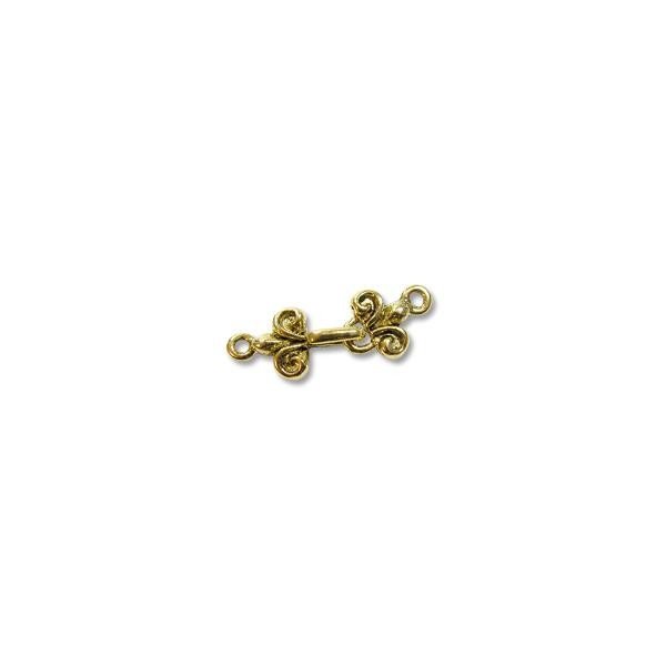 Hook & Eye Clasp - 29mm Pewter Gold Plated (Set)