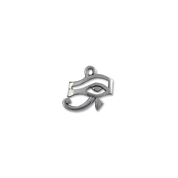 Charm - Eye of Ra 13x17mm Pewter Antique Silver Plated (1-Pc)