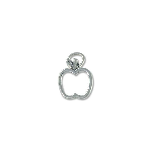 Apple Charm - 15x13mm Sterling Silver (1-Pc)