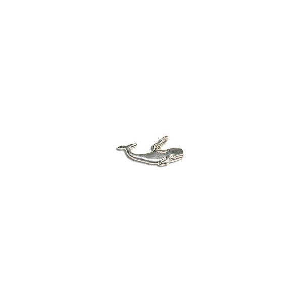 Sterling Silver Whale Charm 8mm (1-Pc)