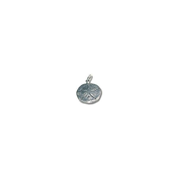 Sterling Silver Sand Dollar Charm 20.5mm (1-Pc)