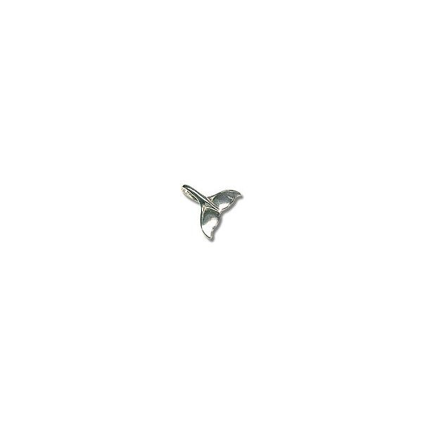 Sterling Silver Whale Tail Charm 21x18mm (1-Pc)