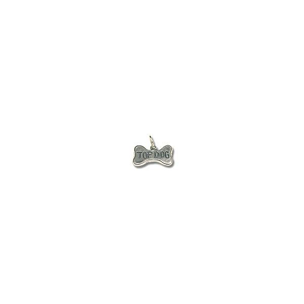 Top Dog Bone Charm - 10x17mm Sterling Silver (1-Pc)