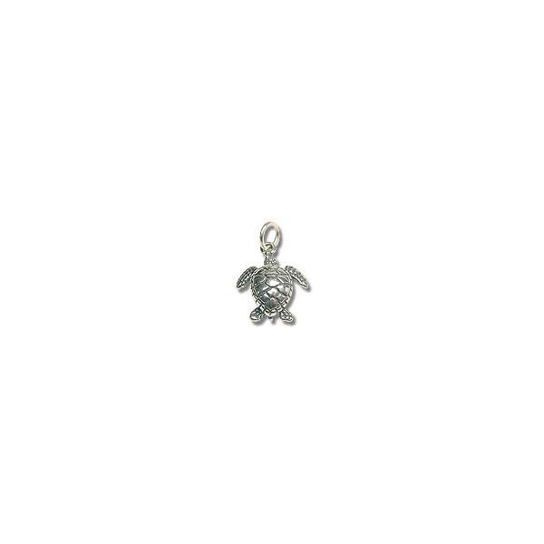 Sterling Silver Sea Turtle Charm 14mm (1-Pc)