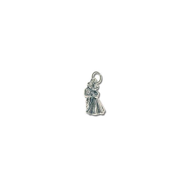 Wedding Couple Charm - 16x10mm Sterling Silver (1-Pc)