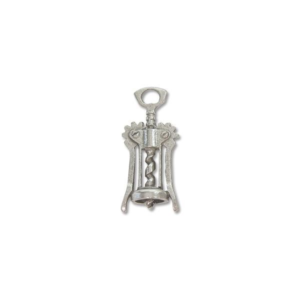 Bottle Opener Charm 28x12mm Pewter Antique Silver Plated (1-Pc)