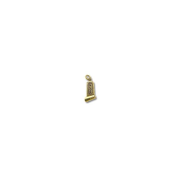 Charm - Glue 20x10mm Pewter Antique Gold Plated (1-Pc)