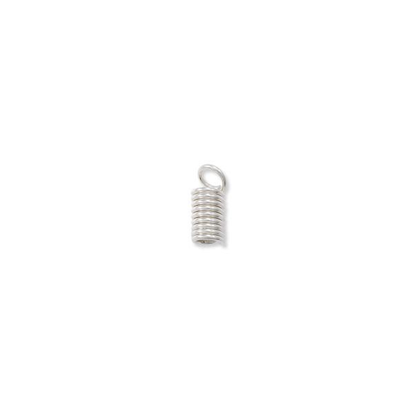 Sterling Silver Spring Cord End 11x5mm (1-Pc)