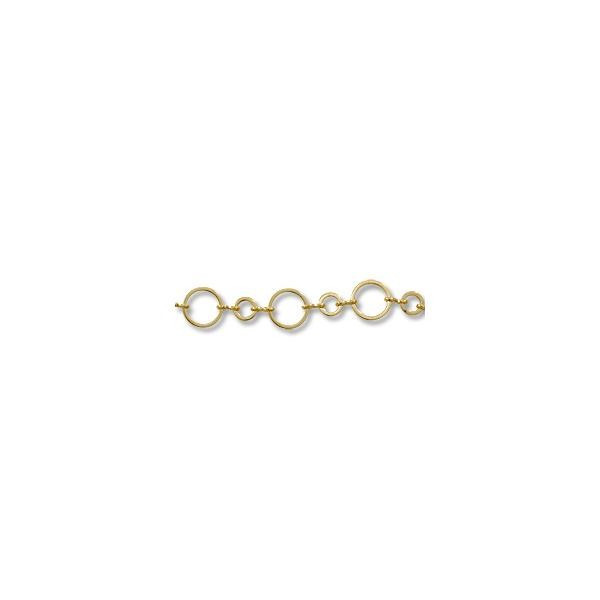 Flat Round Link Chain 10mm Gold Plated (Foot)