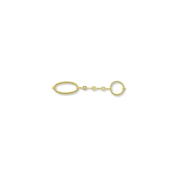 Fancy Rope Link Chain 16mm Gold Plated (Priced per Foot)